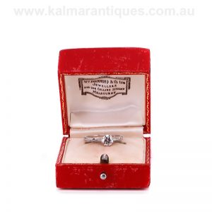 Vintage diamond engagement ring made by William Drummond & Co