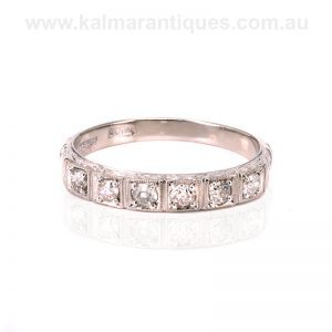 18 carat and platinum Art Deco diamond eternity ring