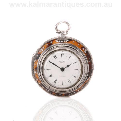 Antique pair case Edward Prior pocket watch