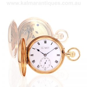 Solid 18 carat gold antique Charles Frodsham pocket watch made in 1892