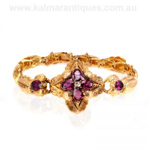 Antique garnet and topaz bracelet dating from the 1870'sAntique garnet and topaz bracelet dating from the 1870's