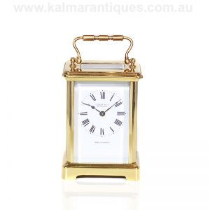 Antique carriage clock retailed by Thomas Gaunt and Co in the late 1800's