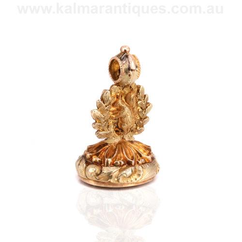 Antique Georgian era seal in 18ct gold