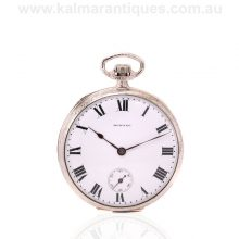 14 carat white gold filled antique E. Howard pocket watch made in 1913