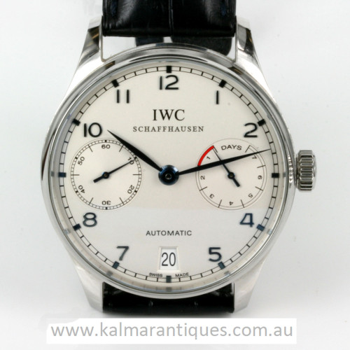 IWC Portuguese 7 day power reserve model 5001