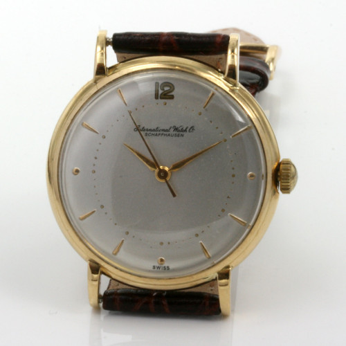 18ct gents IWC watch with the calibre 89 movement.