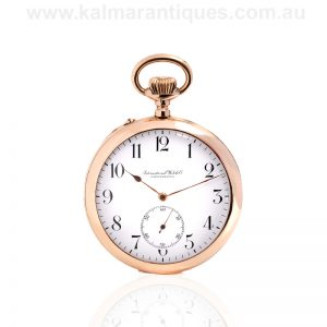14ct gold IWC pocket watch made in 1912