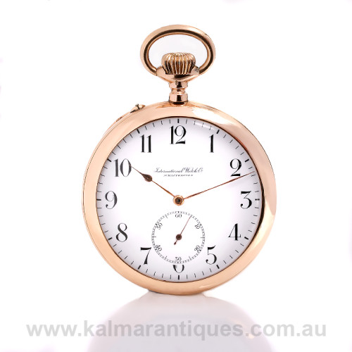 14ct gold IWC pocket watch