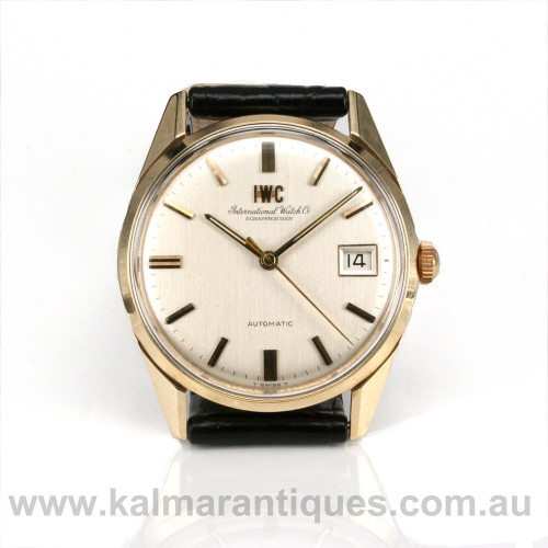 Vintage gents automatic IWC wrist watch from the 1970's.