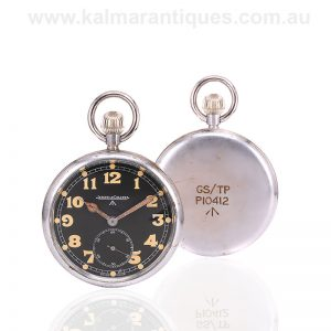 WWII Jaeger LeCoultre British military GSTP pocket watch