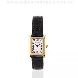 Ladies 18 carat gold Jaeger LeCoultre manual wind watch