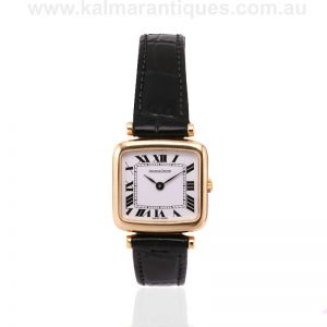 Ladies 18 carat yellow gold Jaeger LeCoultre watch