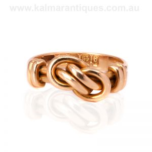 18 carat gold antique knot ring made in 1895