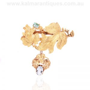 Antique early Australian brooch attributed to Lamborn and Wagner