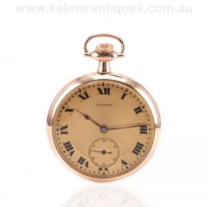14ct gold antique Longines pocket watch made in 1912
