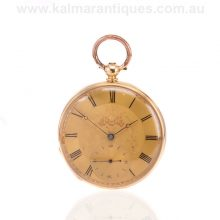Antique L. Marchand 18 carat gold pocket watch made in the 1860's