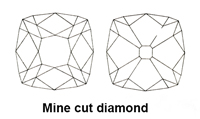 Mine cut diamond image