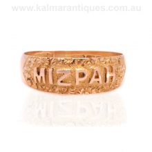 18ct gold antique Mizpah ring made in 1909