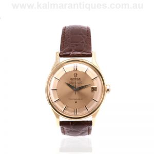 18 carat gold Omega Grand Luxe Constellation watch