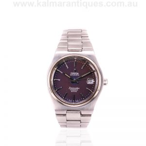 Vintage Omega Seamaster Cosmic 2000 with the rare purple dial