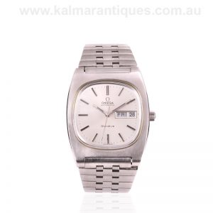 Stainless steel Omega Genève Day and date watch reference 166.0188