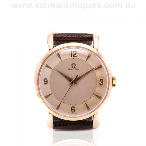 vintage Omega watch from 1952 with flared lugs