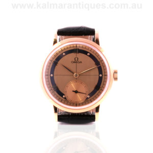 Limited edition 18ct rose gold Omega Anniversary model