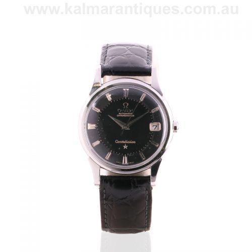 Rare 1960 black pie pan dial Omega Constellation