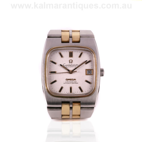 Rare gold and steel Omega Constellation watch reference 168.0059