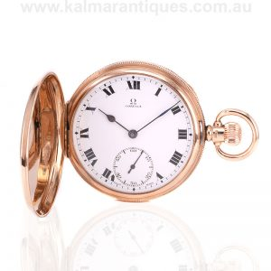 Gents solid gold Omega pocket watch made in 1923
