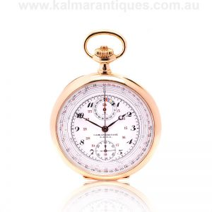 Rare 18 carat yellow gold Omega chrono-tachymetre pocket watch