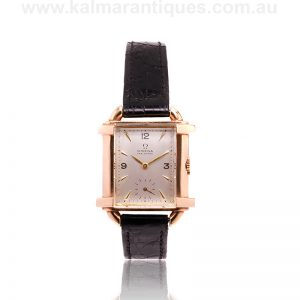 Ladies vintage rose gold Omega made in an exceedingly rare case