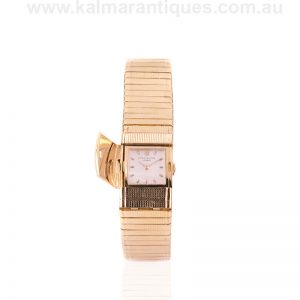 Ladies 18 carat Patek Philippe watch reference 3285/12 with covered dial