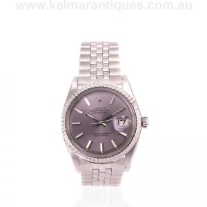 Vintage 1968 Rolex Datejust 1603 with the purple dial