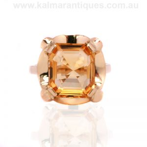 18 carat gold ring set with a stunning citrine