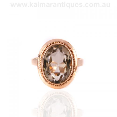 18ct citrine ring from the Retro era of the 1940's