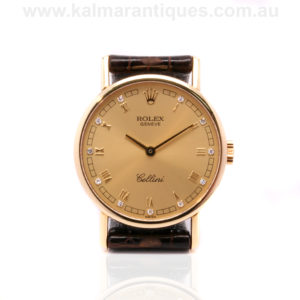 18ct yellow gold diamond dial Rolex Cellini reference 5109/8