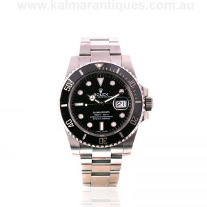 Stainless steel ceramic bezel Rolex Submariner reference 116610LN