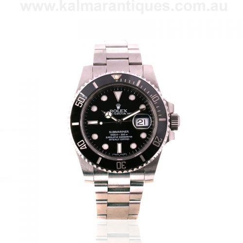 Stainless steel ceramic bezel Rolex Submariner reference 116610LN