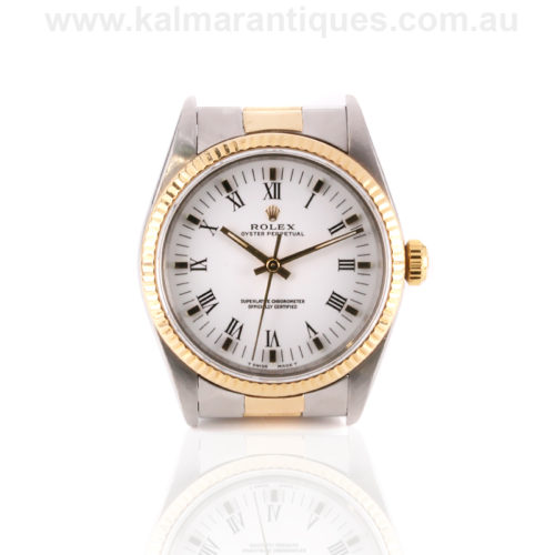 2 tone Rolex watch reference 14233
