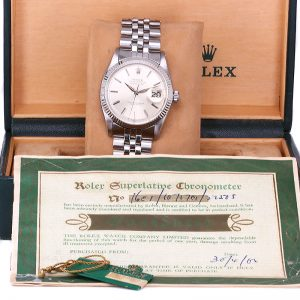 Vintage Rolex 1601 with original box, papers and swing tag