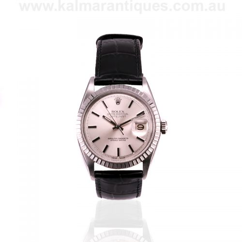 Stainless steel vintage Rolex Oyster Perpetual Datejust model 1603