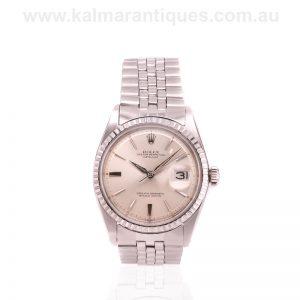 Tritium dial vintage Rolex Datejust 1603 from 1964