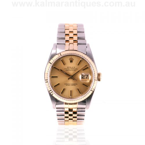 Gents 18ct gold and steel Rolex Oyster Perpetual Datejust reference 16233