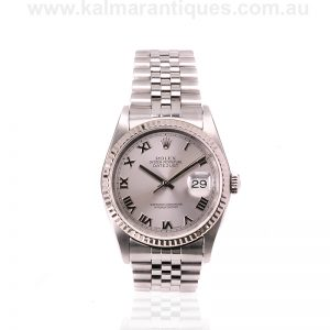 Rolex Oyster Datejust reference 16234 with the Roman numeral dial