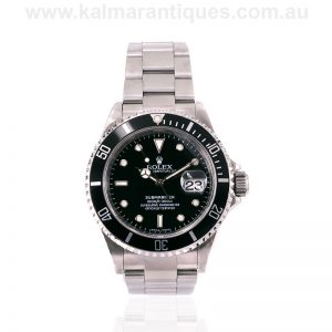 2008 stainless steel Rolex Submariner model 16610