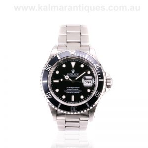 Stainless steel Rolex Submariner 16610 with the tritium dial