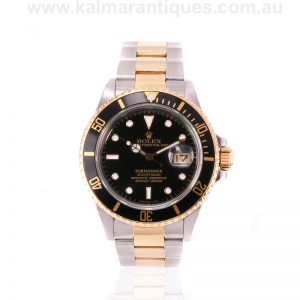 18ct gold and steel transitional Rolex Submariner reference 16803
