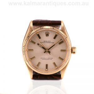 Vintage 1955 14ct gold Rolex Oyster reference 6567