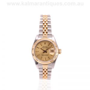 Ladies gold and steel Rolex Datejust model 69173